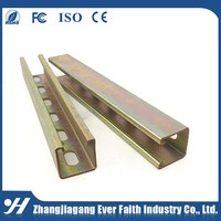 Galvanized Slotted Supporting Steel C Shape Strut Channel