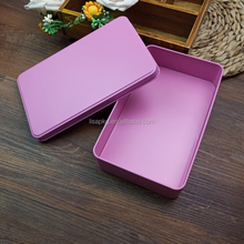 Promotional custom printed pinky rectangular new metal tin box for underwear packing
