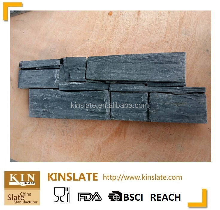 600 x 150 mm Z shape split surface rough selvedge natural dark black culture stone