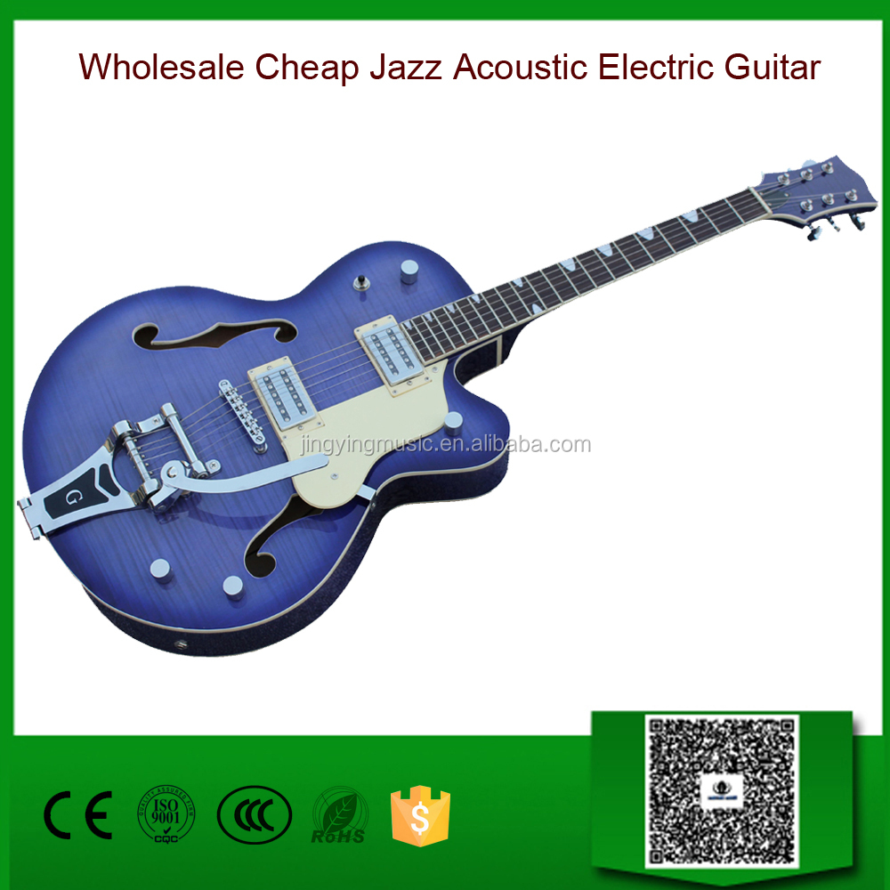Wholesale Cheap Jazz Acoustic Electric Guitar/Musical Instrument from China