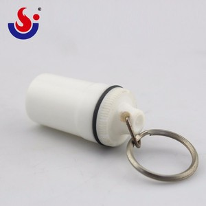 Non-Toxic PP Material Pill Box With Keychain Holder