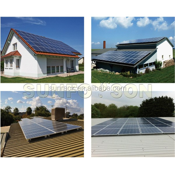 Normal specification and commercial application 1000w solar panel mounting