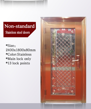 QD-SS008 Stainless Steel Frame With New Designs Stainless Steel Door
