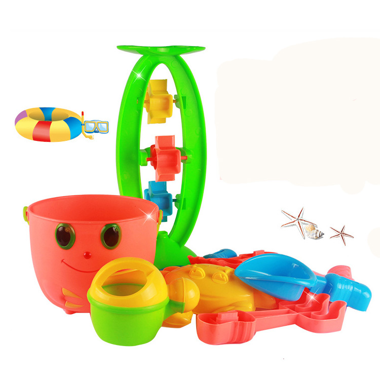 childrens garden beach inflatable toys 9pcs plastic mini sand funnel child toy