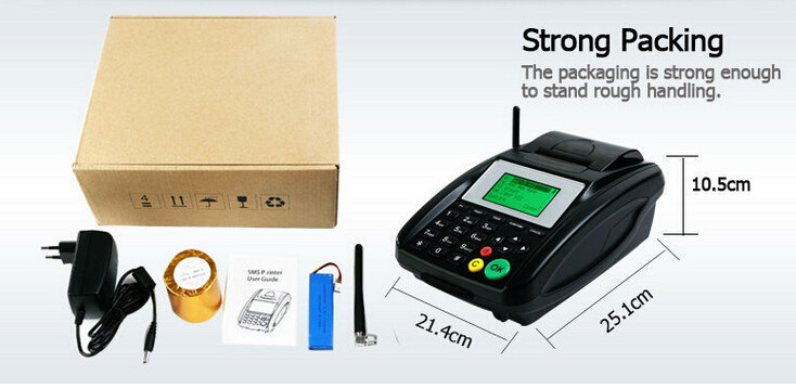 Cheap Thermal Printer for Parking Ticket Printing via GPRS / SMS / USSD / STK