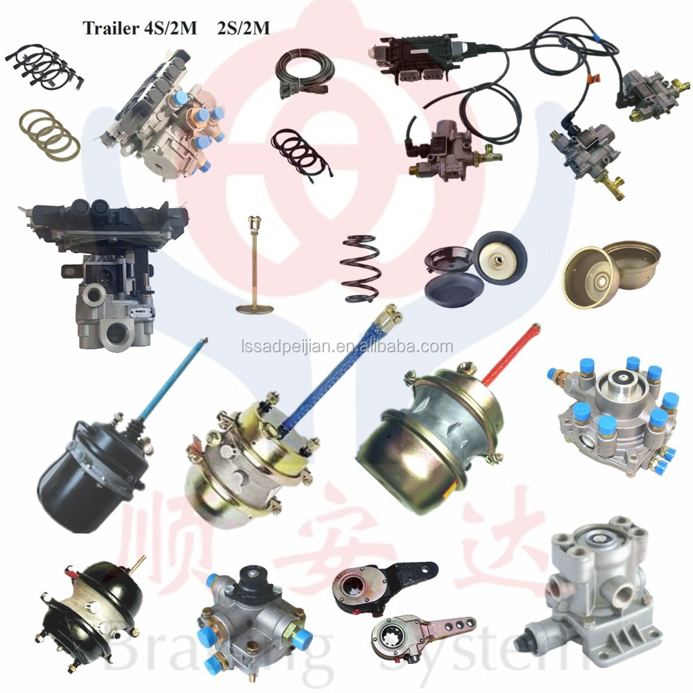 truck wabco abs brake system/parts/valve/chamber/air dryer/foot valve/hand valve for MAN,SCANIA,VOLVO,DAF 6S/3M,4S/3M