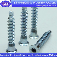 Aluminum cap wood screws