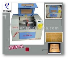 JQ4030 mini laser engraving machine to make rubber stamps
