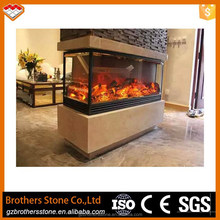 2017 new sale 3 sided electric fireplace ethanol fireplace electric wide