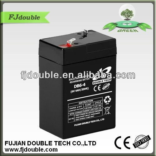 maintenance free 6v 4ah dry batteries for ups with CE,ISO
