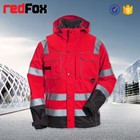 high visibility red best winter parka jacket