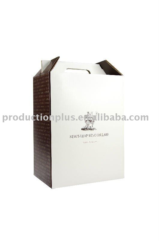 Quality Prinited Wine Bottle Paper Gift Box
