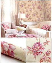 Latest royal pvc wallpaper designs with big size 1.06*15.6m