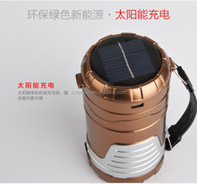 solar Camping Lantern Portable 6 LED Rechargeable Night Light Lamp Hiking Flashlights