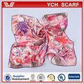 Delicate printed silk floral scarf