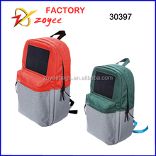 2015 latest design fashion teenage solar panel backpack zoyeebag