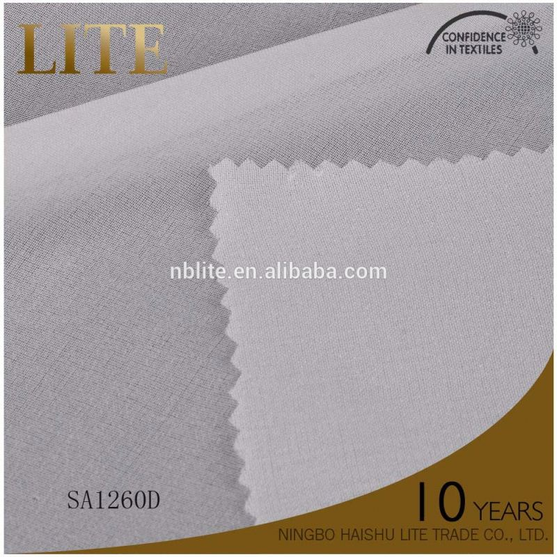China Factory circular knit interlining 100 polyester tricot fabric