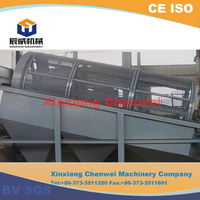 Skid mounted trommel screen/rotary gravel drum screen
