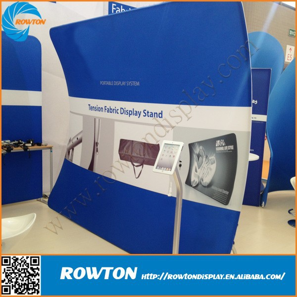 Large U shaped metal stretch tension fabric display aluminum extrusion trade show booth