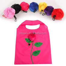 2015Hot fashion rose reusable folding shopping bags
