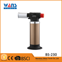 Promotional Portable cheap windproof kitchen mapp Gas Lighter BS-230 butane pocket torch