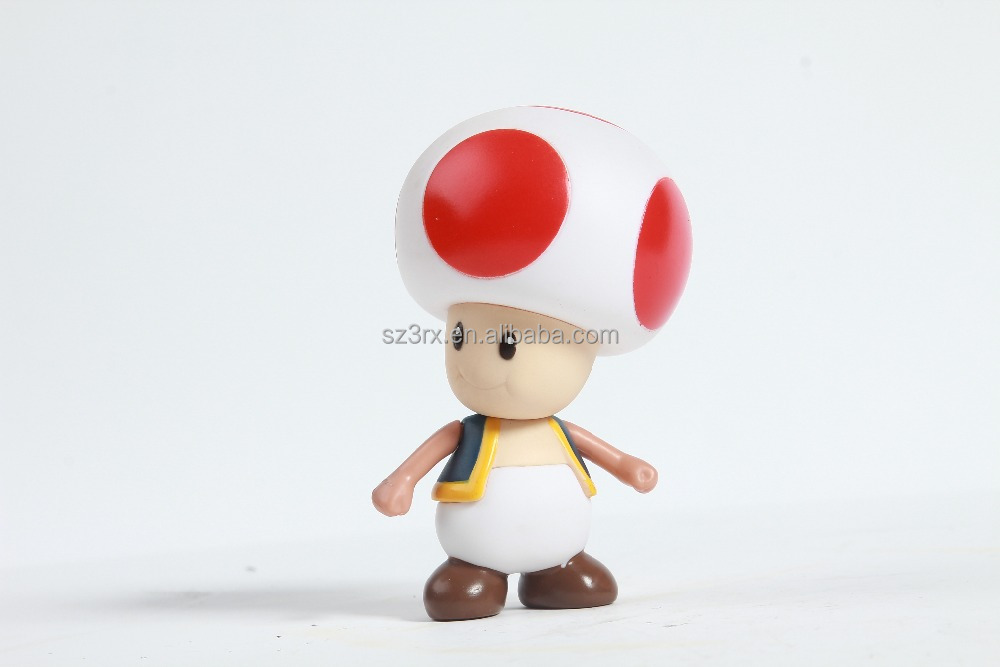 Mushroom shape plastic toys, DIY action figure, Eco-friendly PVC&ABS materal figure action,