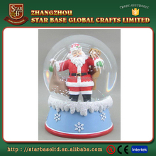 Christmas decoration resin glass ball snow glass balls with low price