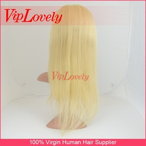 viplovely cheap brazilian human hair full lace wig,100% virgin blonde hair wigs for black men,human hair toppers#613 color