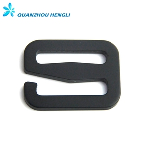 Silver / Black Color Adjustment Aluminum Carabiner Metal G Hook Buckles