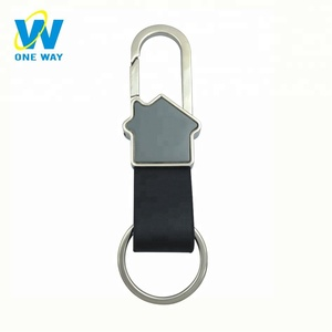 Wholesale Promotion Souvenir Blank Logo Custom Leather Keychain