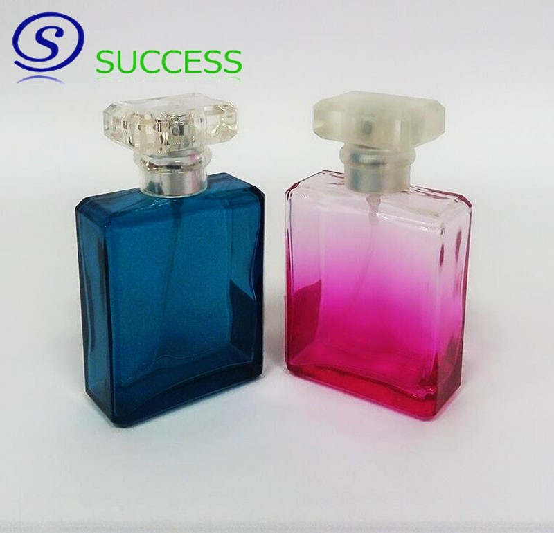 50ml Colored Square Glass Perfume Bottle J1161