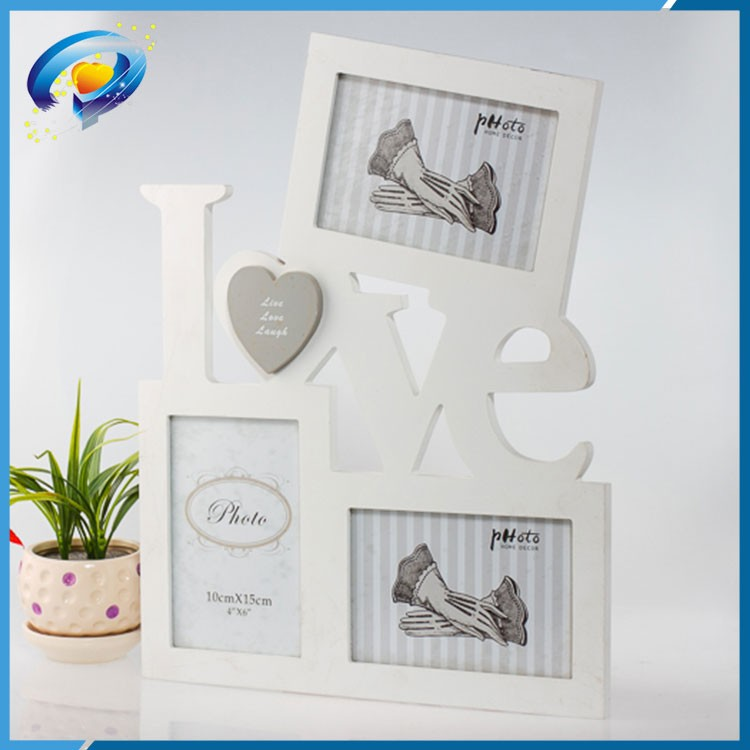 White Love Couple Wood Photo Frame,Love Letter Wood Picture Frame ...