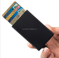 Automatic aluminium RFID blocking credit name card holder