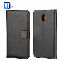 Handmade Genuine Leather Slim Wallet Flip Case Cover Magnetic Closure Folio Book Cover with Stand for Samsung Galaxy J3 2017