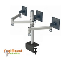 Triple LCD Monitor Folding Shelf Brackets/arms/stand (Desk Clamp Mount)