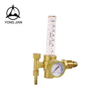Co2 gas pressure regulator valve with flowmeters