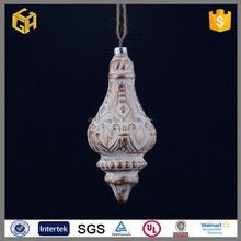 The unique design metal christmas artificial glass decoration crafts