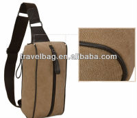 fashion single canvas shoulder bag