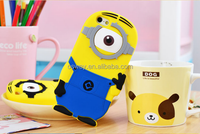 Despicable Me 2 Minion Case 3D One / Two Eye Cover Soft Silicone Case For iPhone