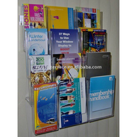 Acrylic Wall Mounted Leaflet Holder Dispenser