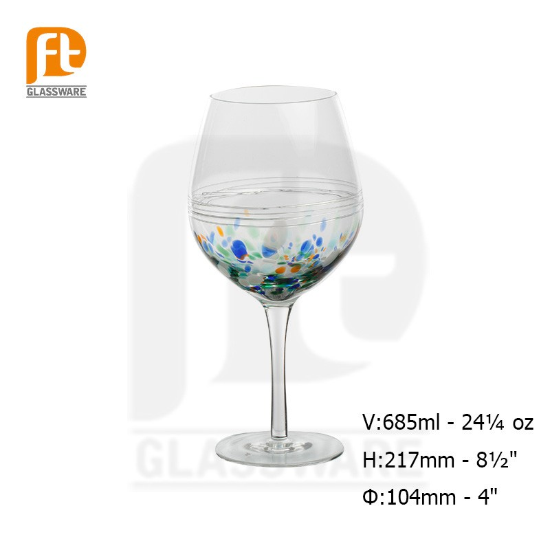 2016 Decorative Handcrafted Long Stem Fancy Wine Glass Cup