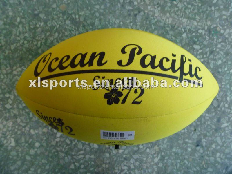 Machine sewn Neoprene rugby ball