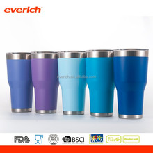 Everich free sample stainless steel powdered double wall tumbler