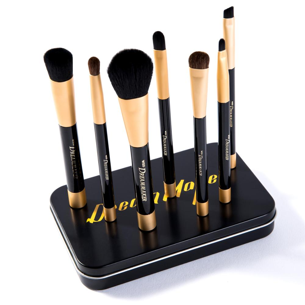 Blue Magnet 7pcs cosmetic <strong>brush</strong> make up use Korean gift box packed Contour makeup <strong>brush</strong> set