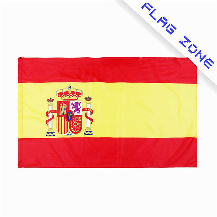 High quality screen printed flying large promotional colorful country Spanish flag
