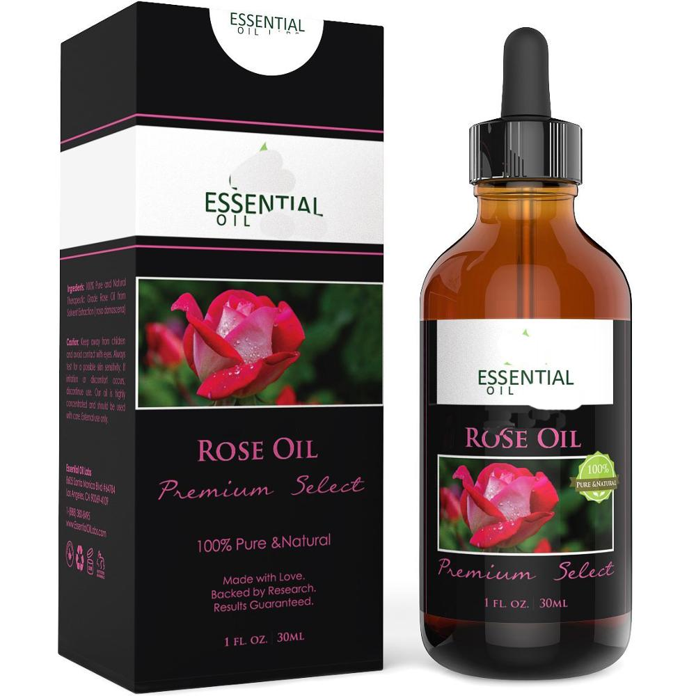 Private Label Rose Essential Oil - Organic Therapeutic Grade - Best for Aromatherapy, Mood Relaxing