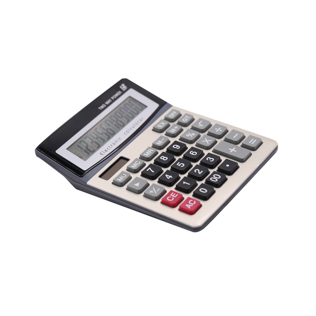 High Quality 12 Digits Big Display Screen Office Calculator
