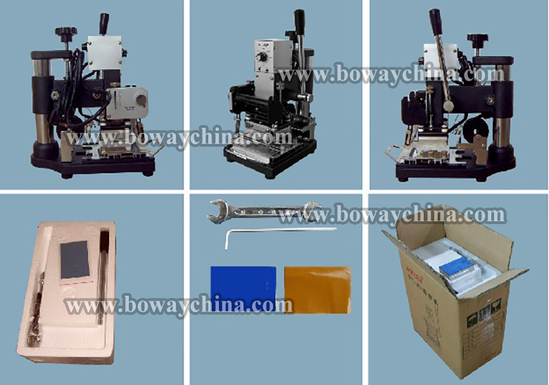 Flat heating plate PVC Plastic Card Embossed letter foil stamping machine