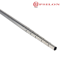 Fluted stainless steel telescopic handle for suitcase