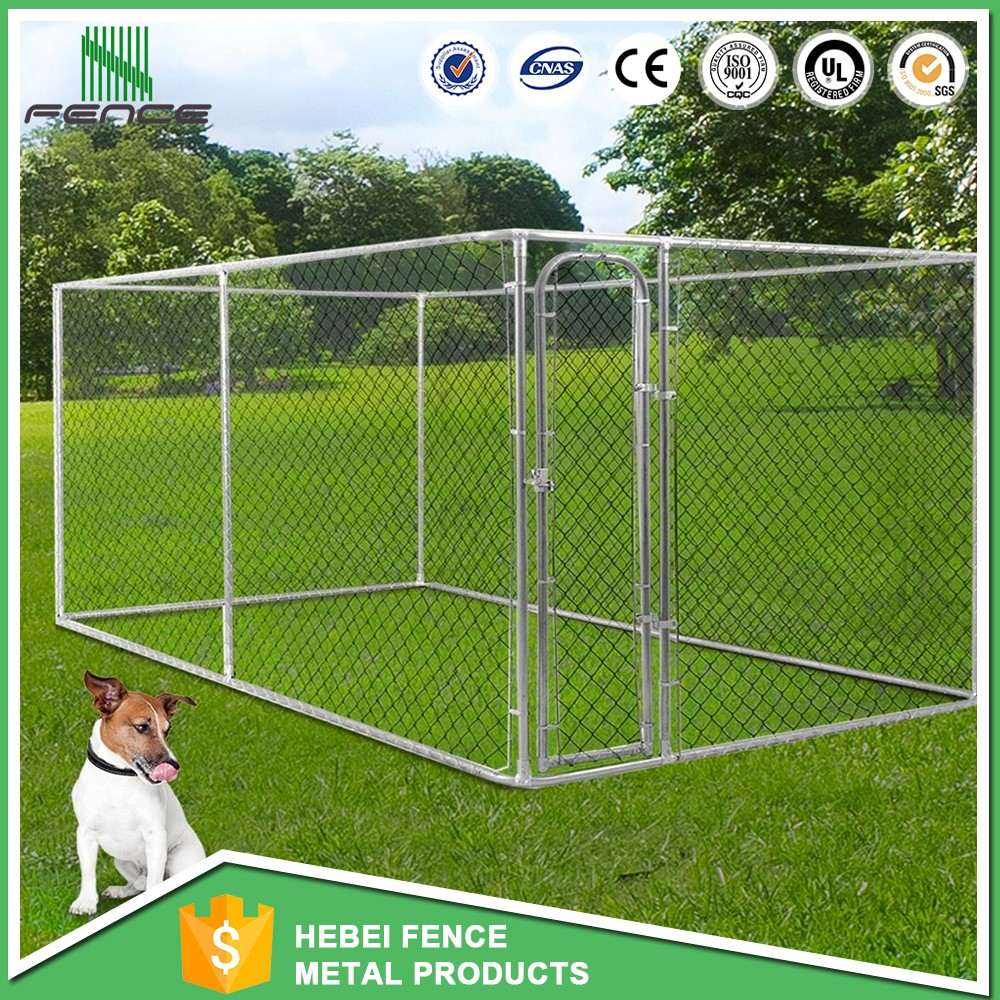 cheap 10x5x6 ft classic galvanized outdoor dog kennel